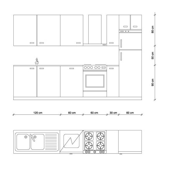 Misure cucina le regole di progettazione guida per casa for Disegni di 2 piani