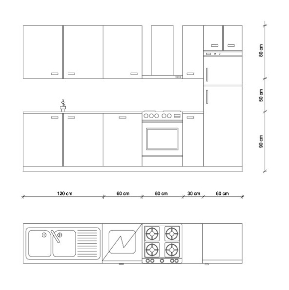 Misure cucina le regole di progettazione guida per casa - Mobili cucina misure ...
