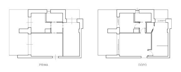 Progetto di secondo bagno in bilocale©