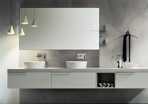 Mobile bagno con doppio lavabo (photo credit www.cerasa.it)
