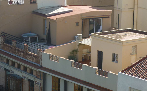 Lastrico solare trasformato in terrazzo©