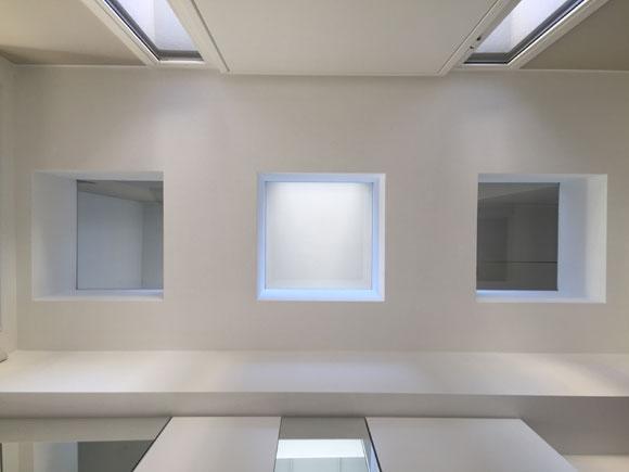 Cubi in vetro calpestabile